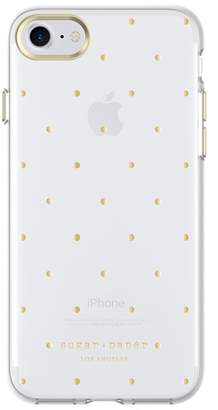 sugar paper Printed Case for iPhone 8 & iPhone 7 - Small Dot Metallic Gold\u002FClear