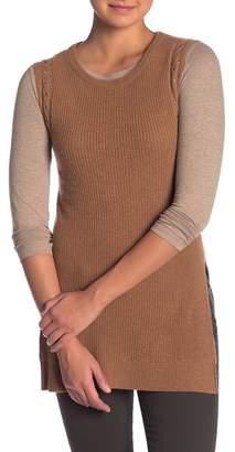 Sigrid Olsen Studded Trim Cashmere Vest