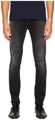 Versace Distressed Grey Slim Fit Jeans in Black Men's Jeans