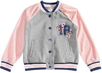 Epic Threads Toddler Girls Embroidered Varsity Jacket, Created for Macy's
