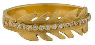 Ileana Makri 18K Eagle Feather Diamond Ring