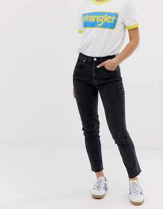 Pull&Bear slim mom stretch jeans in black