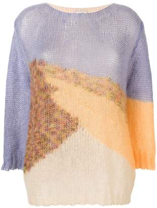Forte Forte colour-block fitted sweater