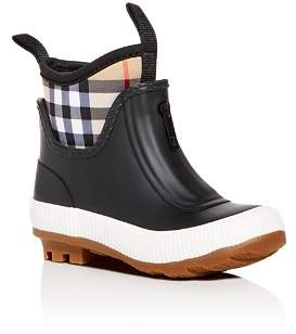 Burberry Unisex Flinton Rubber Rain Boots - Walker, Toddler