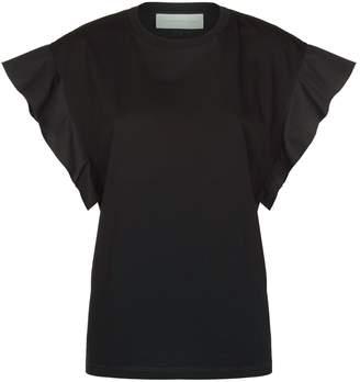 Victoria Beckham Victoria Frill Sleeve T-Shirt