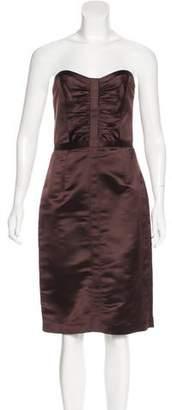 Milly Strapless Silk Dress