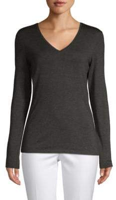 Saks Fifth Avenue V-Neck Long-Sleeve Sweater