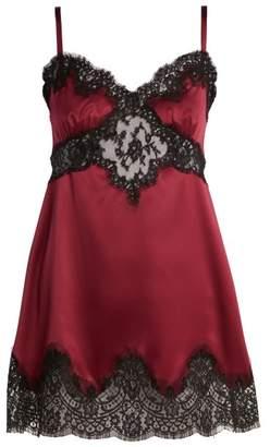 Dolce & Gabbana Silk and lace slip dress