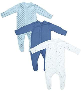 Mothercare Baby Boys' Blue 3 Pack Sleep Sleepsuit,(Size: 2.2999999999999998)