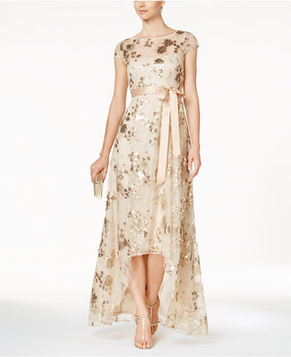 Adrianna Papell Sequined Illusion High-Low Gown $229 thestylecure.com