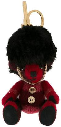 Burberry The Guardsman Thomas Bear Charm in Check Cashmere