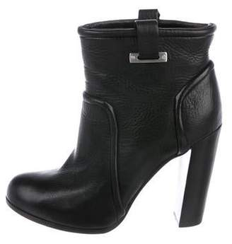 Rachel Zoe Leather Round-Toe Ankle Boots