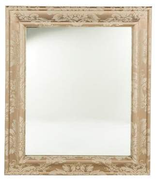 Brocade Upholstered Wall Mirror