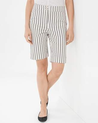 768d105dafb7 at Chico's · Secret Stretch Waist Pinstriped Shorts