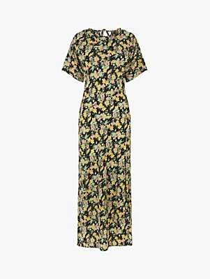 Warehouse Floral Cowl Dress, Multi