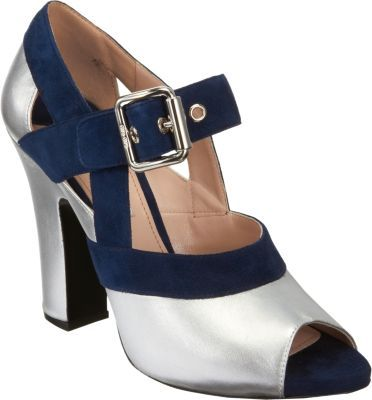Miu Miu Metallic Mary Jane Sandal