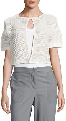 Lafayette 148 New York Women's Shadow Striped Cropped Top