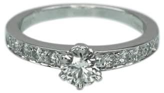 Tiffany & Co. 950 Platinum 0.70tcw Diamond Bead Set Engagement Ring Size 6
