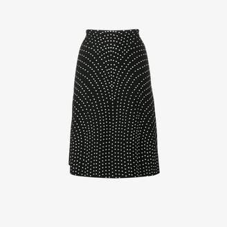 Alaia polka dot A-line skirt