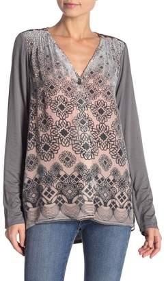 Hale Bob Hi-Lo Silk Blend Button Down Shirt