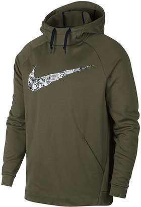 Nike Men Therma Collage-Logo Hoodie
