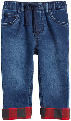 First Impressions Baby Boys Flannel-Cuff Jeans