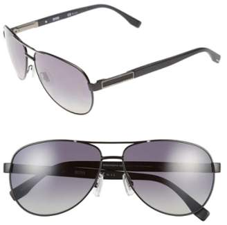 BOSS 62mm Polarized Aviator Sunglasses