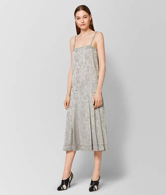 Bottega Veneta CEMENT SILK JACQUARD DRESS