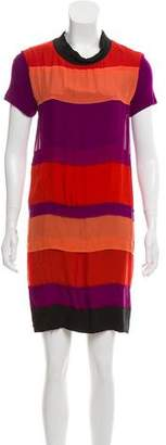 Lanvin Colorblock Mini Dress