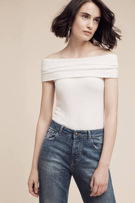 Three Dots Brushed Off-The-Shoulder Tee $78 thestylecure.com