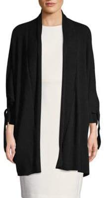 Inhabit Cashmere Tie-Cuff Cardigan