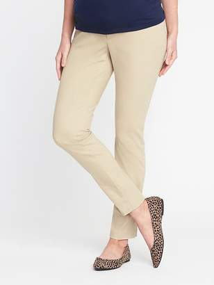 Old Navy Maternity Premium Full-Panel Pixie Chinos