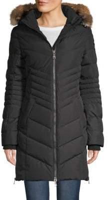 Queens Fox Fur-Trimmed Jacket