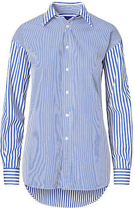Polo Ralph Lauren Striped Cotton Boyfriend Shirt $145 thestylecure.com
