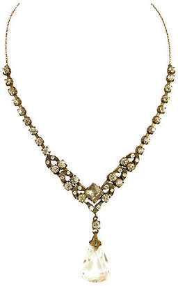 One Kings Lane Vintage Edwardian Czech Crystal Necklace - Neil Zevnik