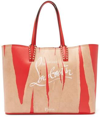 Christian Louboutin Cabata Kraft Leather Tote - Womens - Brown Multi