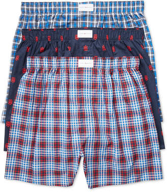 Tommy Hilfiger Men's 3 Pack Woven Cotton Boxers $39.50 thestylecure.com