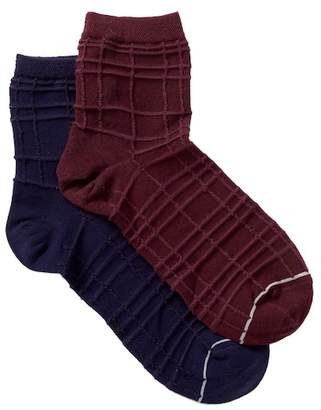 Yummie by Heather Thomson Spiral Knit Anklet Socks - Pack of 2