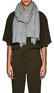 Barneys New York Women's Plaid Cashmere Scarf - Gray