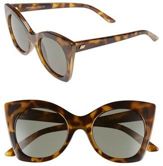 Women's Le Specs 'Savanna' 51Mm Sunglasses - Tort