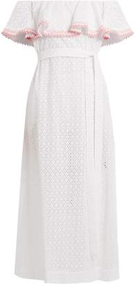Lisa Marie Fernandez Mira ruffle-trimmed broderie-anglaise cotton dress