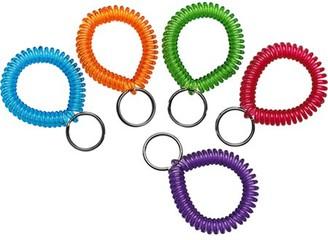MMF, MMF20145AP47, Wrist Coil Key Rings, 10 / Box, Assorted