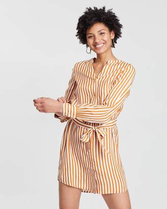Vero Moda Bloom LS Short Shirt Dress