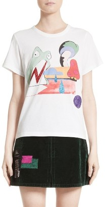 Women's Marc Jacobs Frog Graphic Print Tee $145 thestylecure.com