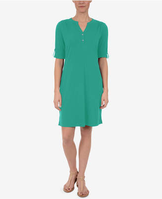 NY Collection Utility Shirtdress