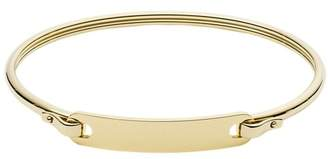 Fossil Plaque Gold-Tone Stainless Steel Bangle jewelry GOLD
