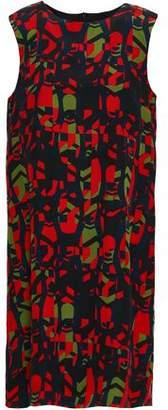 M Missoni Printed Silk Crepe De Chine Dress