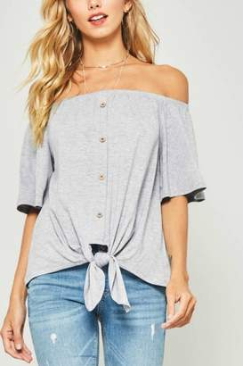 Factory Unknown Off Shoulder Top