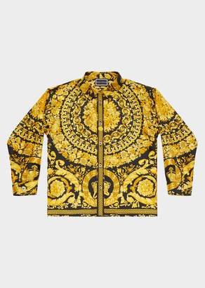 Versace Barocco Print Silk Shirt
