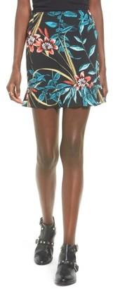 Women's Band Of Gypsies Tropical Print Ruffle Hem Skirt $48 thestylecure.com